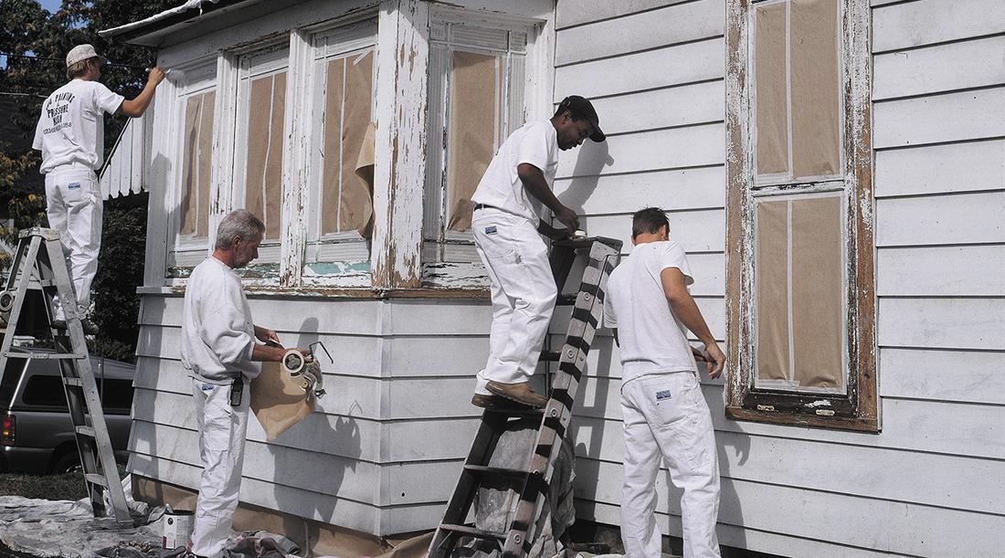 ¿Qué hacer cuando se pela la pintura de exteriores?