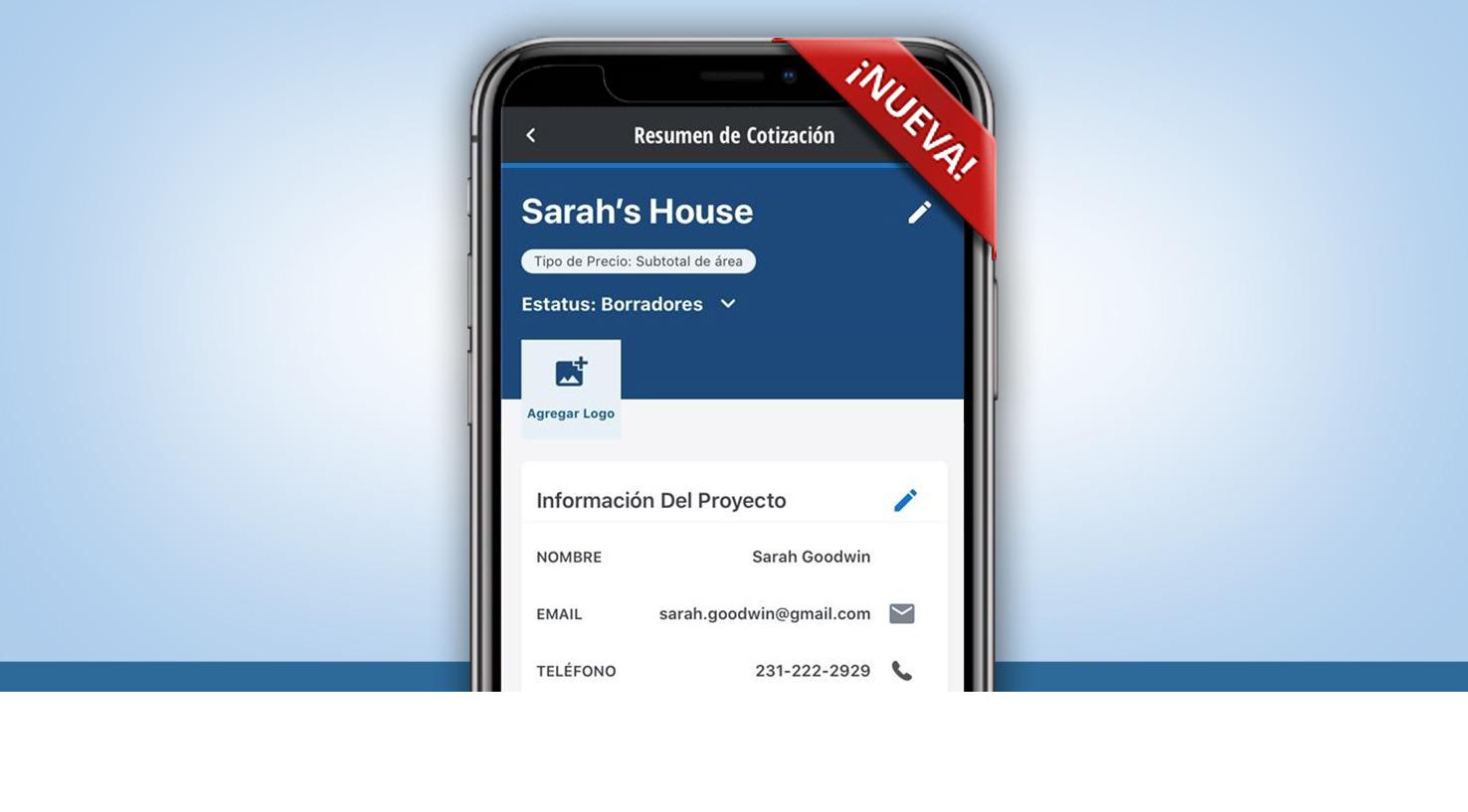 Bravo por la nueva herramienta de estimados para proyectos  del S-W PRO APP