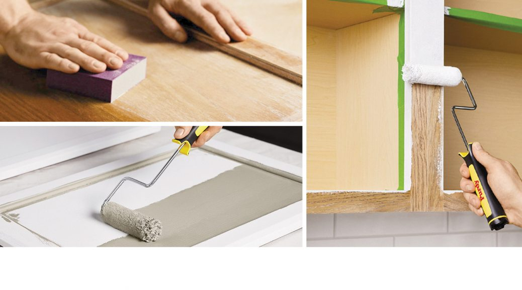 """Feature Image for Pintor Pro, Summer 2020 story: """"Cabinet Refinishing: An 8-Step Guide for Pro Painters"""""""